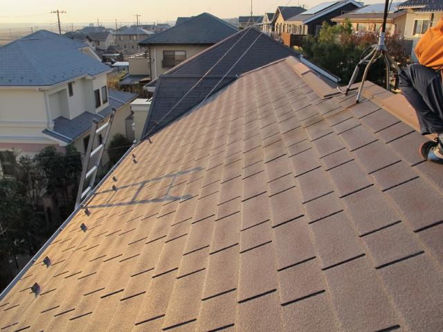 我孫子市B様邸の屋根塗装前の様子