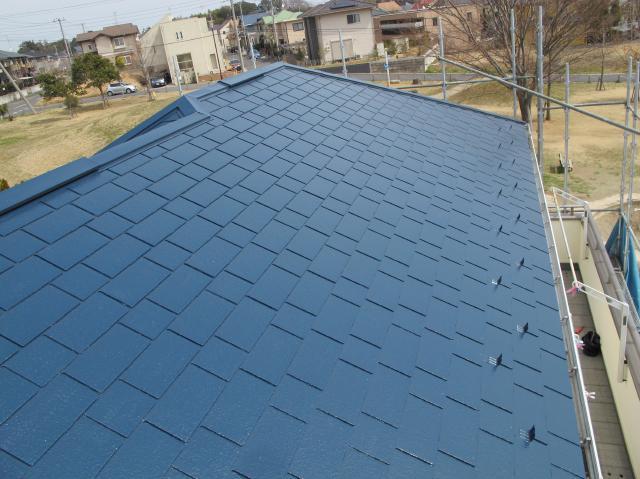 我孫子市B様邸の屋根塗装後の様子