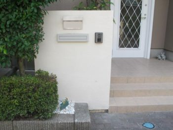 柏市 M様邸 玄関タイル貼り替えと門塀リフォーム事例