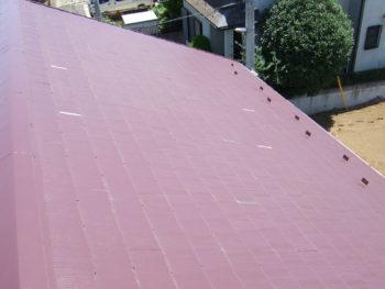 Y様邸の屋根カバー工法前の様子