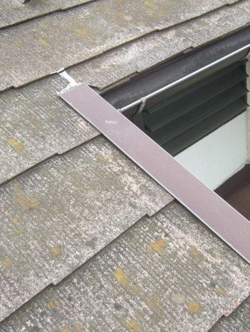 柏市M様邸の屋根の雨漏りしている箇所の様子
