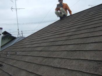 柏市M様邸の屋根葺き替え前の様子