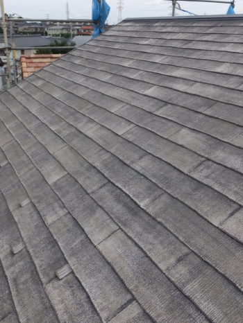 柏市S様邸の屋根高圧洗浄後の様子