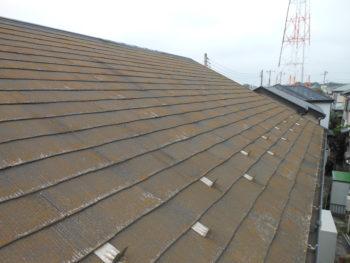 柏市S様邸の屋根塗装前の様子