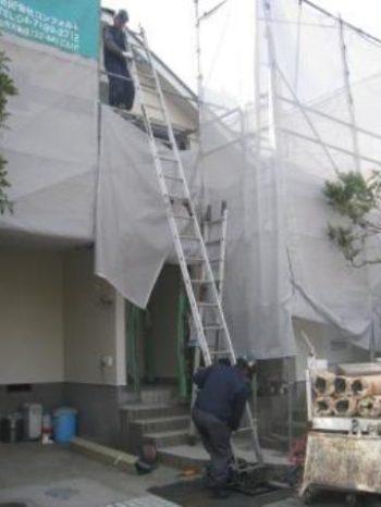 柏市K様邸の屋根工事の様子