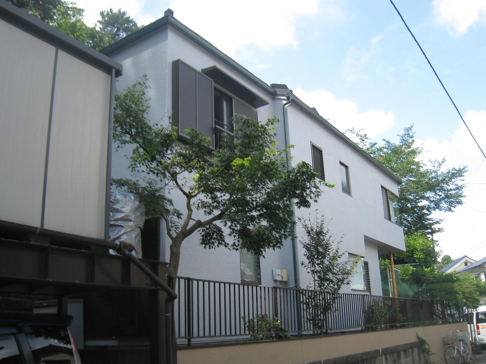 柏市T様邸外壁塗装後の様子