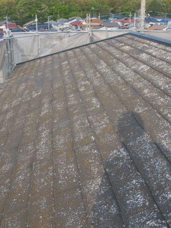 柏市T様邸の屋根高圧洗浄後の様子