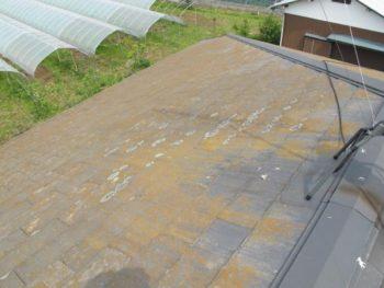 柏市T様邸の屋根カバー工法前の様子