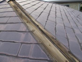 S様邸の屋根カバー工法前の様子