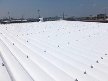 三郷市 会社倉庫屋根塗装リフォーム事例