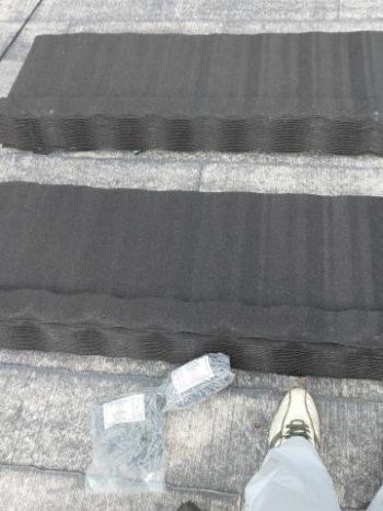 柏市T様邸の屋根カバー工法に使用した屋根材のTルーフクラシック