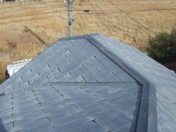 柏市K様邸の屋根カバー工法前の様子