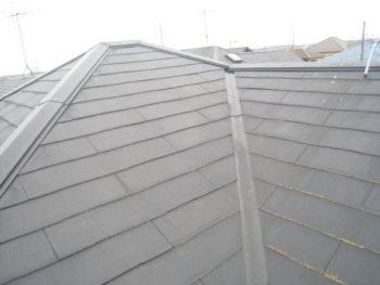 取手市K様邸の屋根塗装前の様子