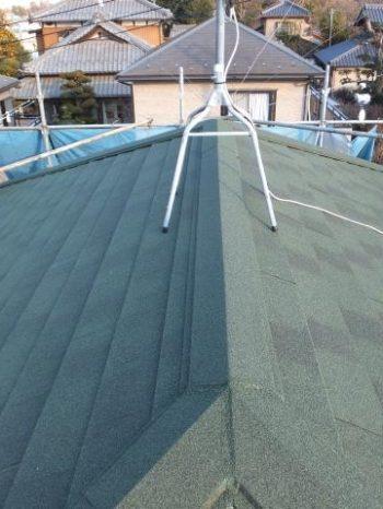 我孫子市K様邸の屋根カバー工法が完了した様子