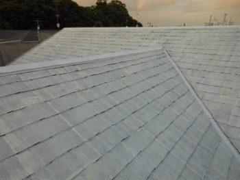 守谷市M様邸の屋根塗装前の様子