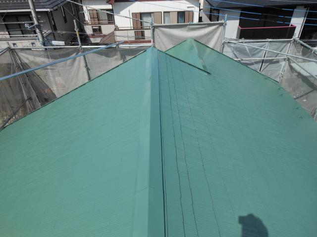 守谷市M様邸の屋根塗装後の様子