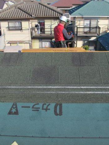 柏市S様邸の使用した屋根材のディプロマット