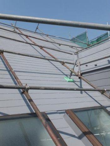 白井市TY様邸の屋根の上塗り