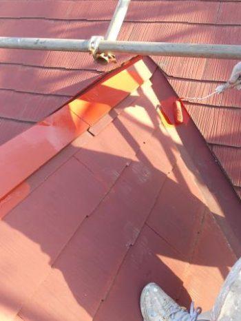 白井市T様邸の屋根の錆止め塗装