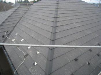 牛久市T様邸の屋根塗装前の様子