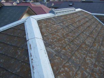 柏市U様邸の屋根カバー工法前の様子
