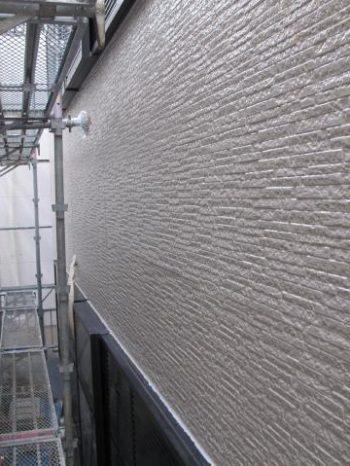 柏市Y様邸の外壁塗装完了の様子