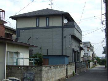 千葉県鎌ケ谷市S様邸の外壁塗装前の様子