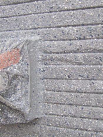 鎌ケ谷市S様邸の吹付け塗装後の様子