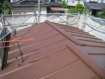 柏市 M様邸 台風で捲れた瓦棒屋根の葺き替え事例